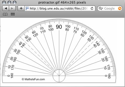 Protractor for use with Step 4