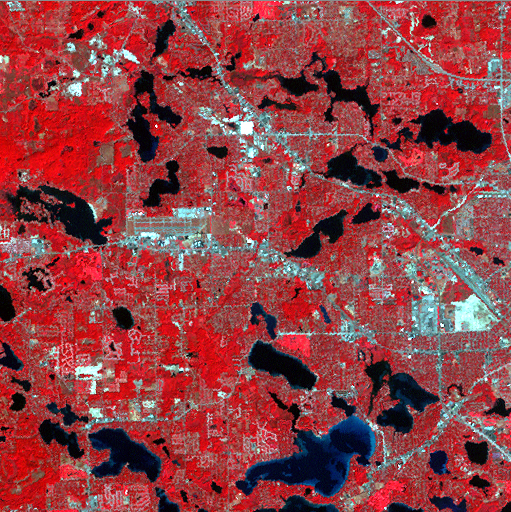 2002 Landsat 15 km section centered on Waterford, MI