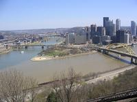 Confluence of rivers, Pittsburgh, PA
