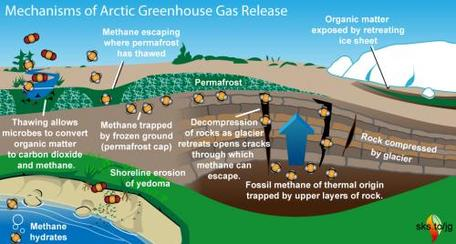 Mechanisms of Greenhouse Gas Release in Arctic