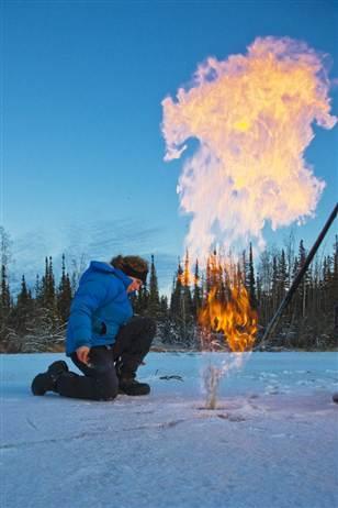 Methane and Lakes