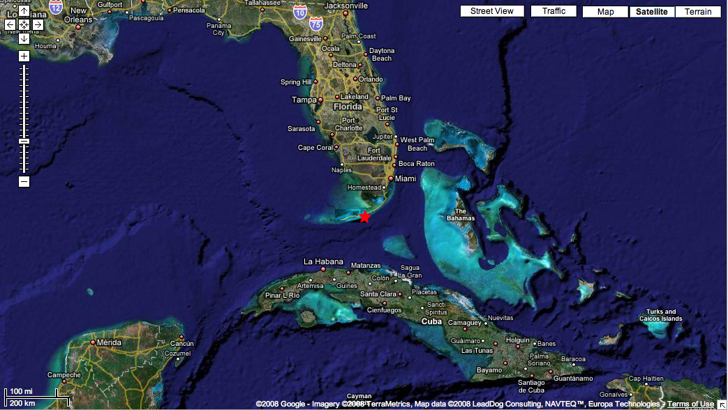 D Sombrero Reef - Satellite maps florida