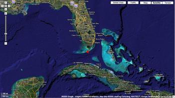 Sombrero Reef Satellite Image