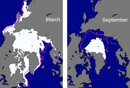 Arctic Sea Ice Extent Comparison