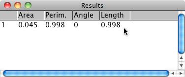 Measurement Results Window