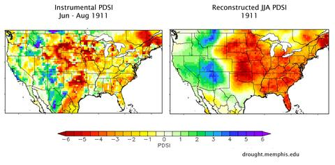 NADA drought maps screenshots