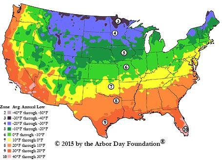 2015 plant hardiness zones