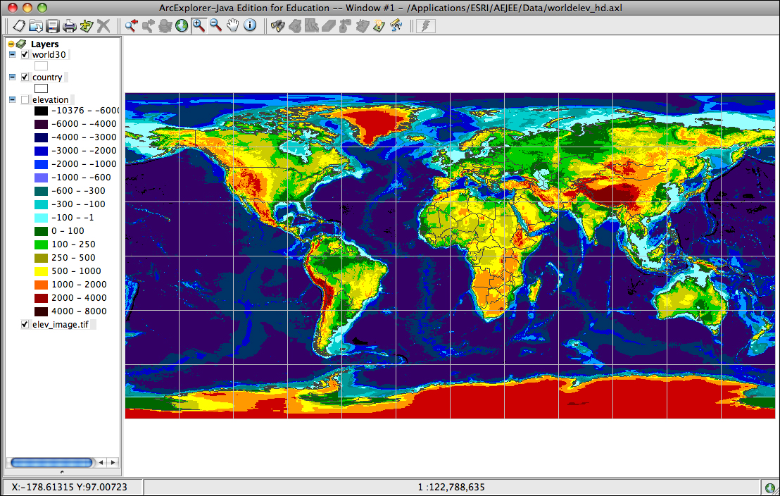 Module - World elevation map