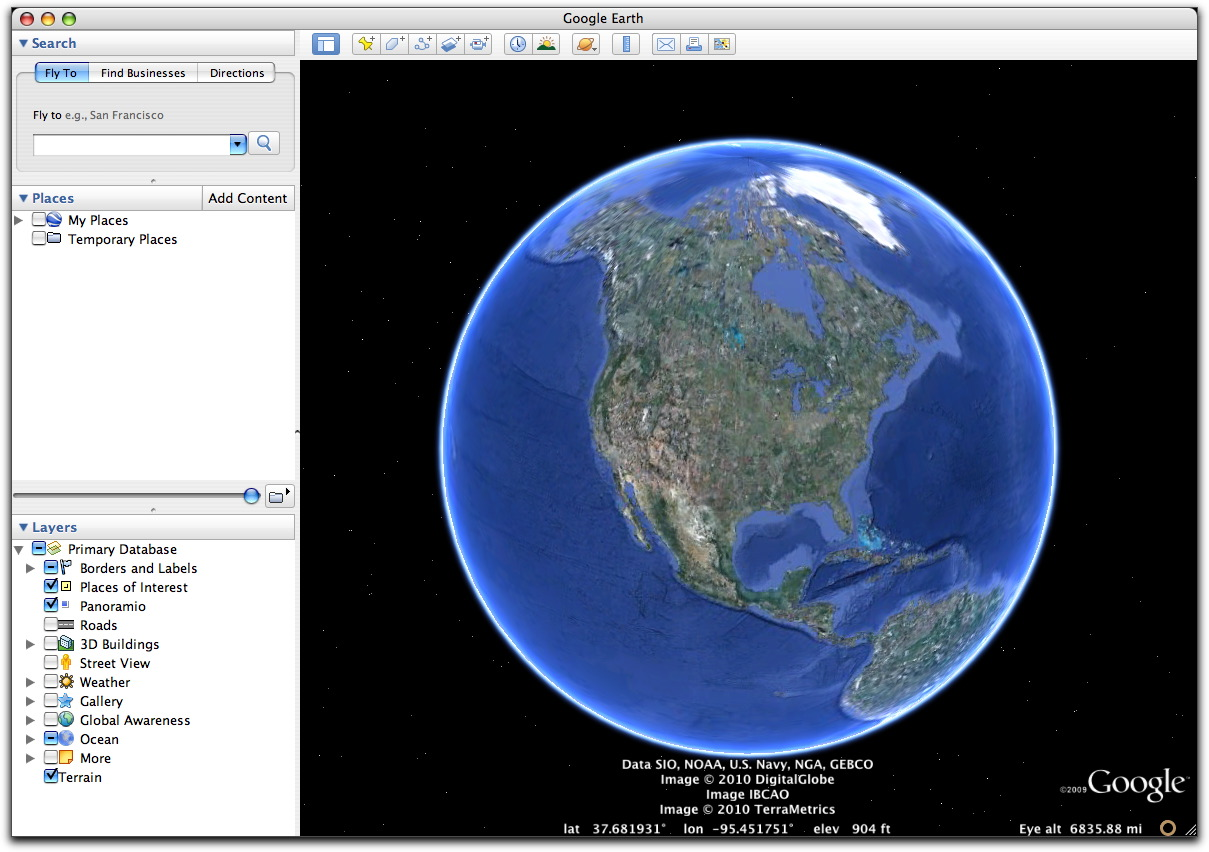 Install google earth for Goodl