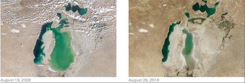 Aral Sea August 2000, 2010