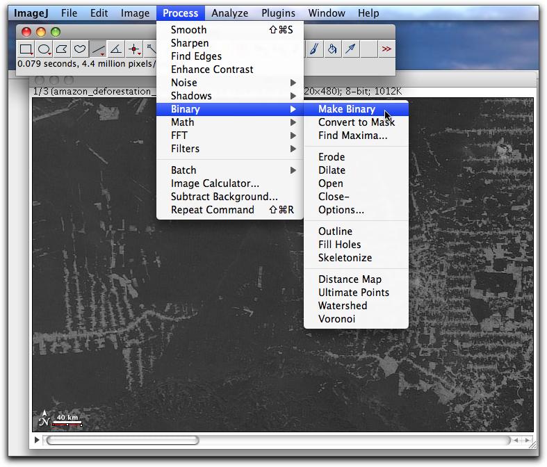 using imagej to detect change