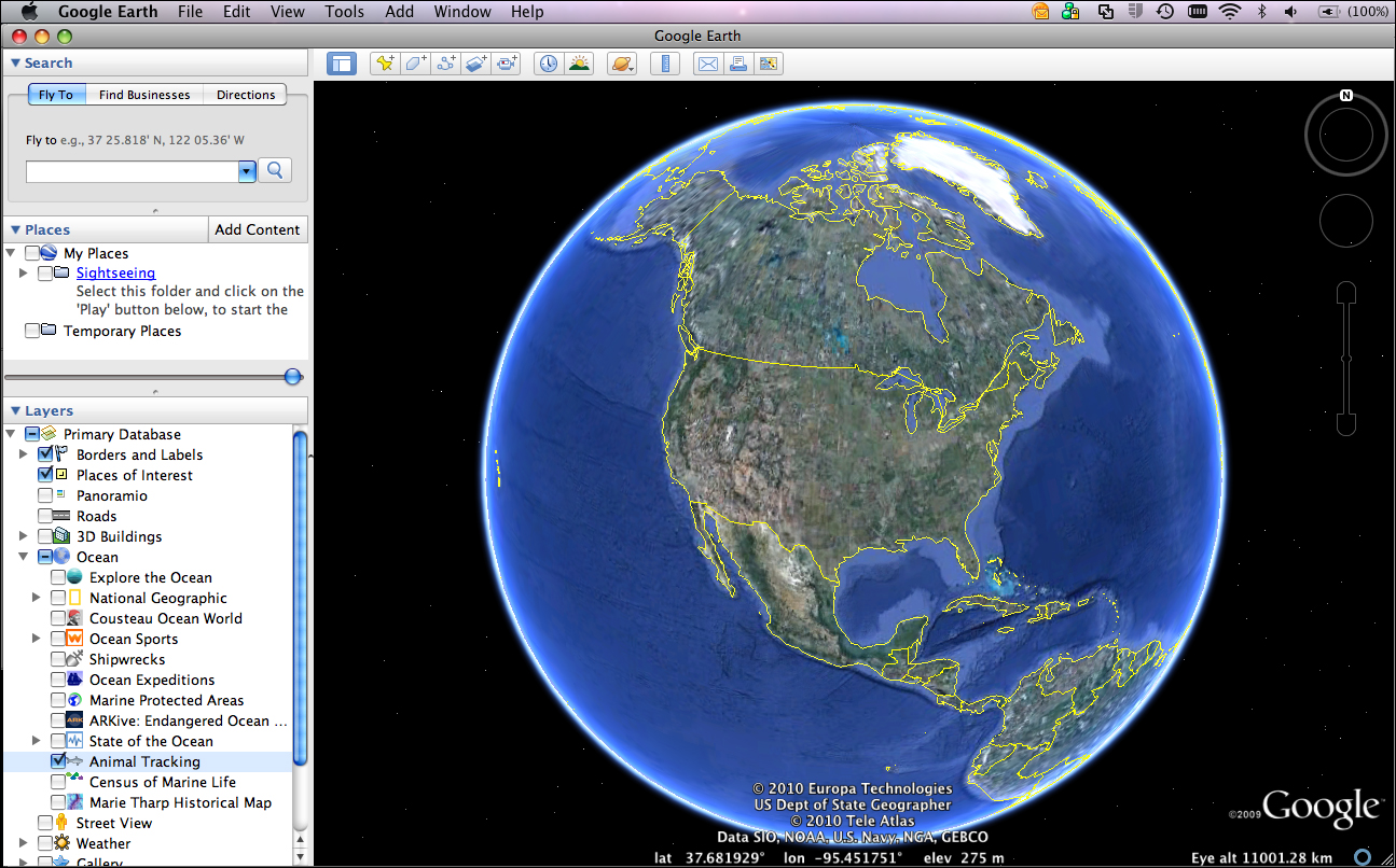 Exploring Ocean Data With Google Earth - Google ocean