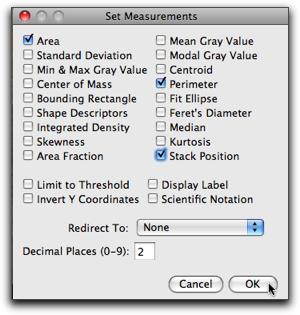 Analyse set measurements stack chckd