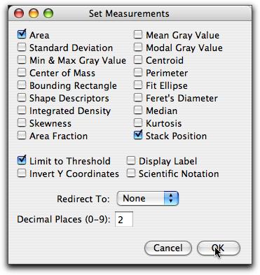 Set Measurements Dialog Box