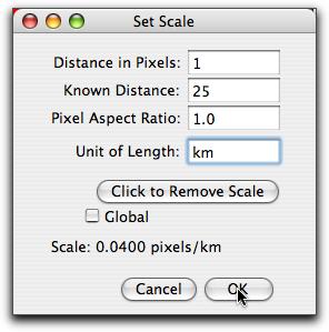 Set Scale Dialog Box