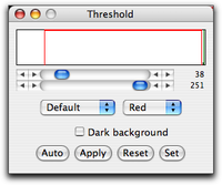 Threshold Dialog Box
