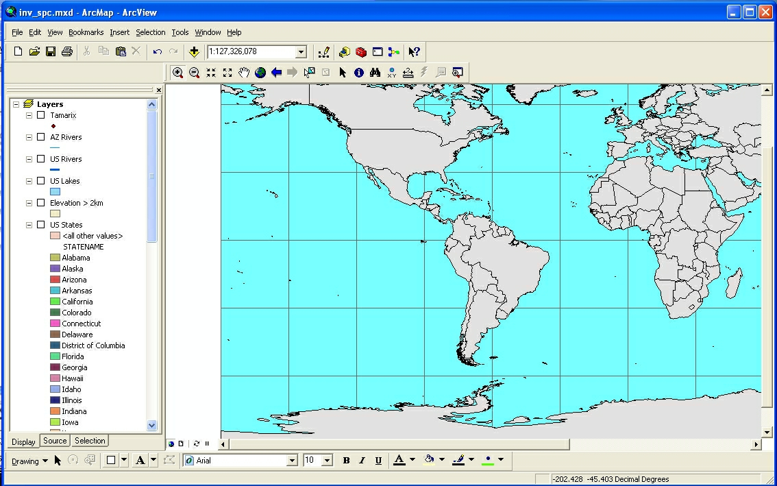 Intro To ArcGIS - Map layers for us arcgis