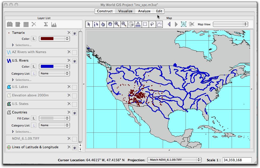 Using My World To Analyze And Predict Invasions - Rivers around the world