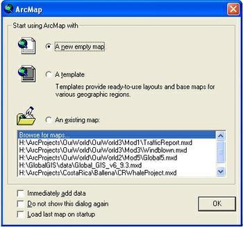 5203 ArcMap Start Screen