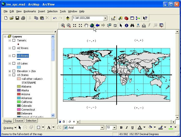 Intro To Mapping Tabular Data In ArcGIS - Elevation from lat long coordinates