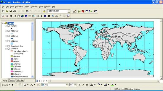 Opening Map ArcGIS
