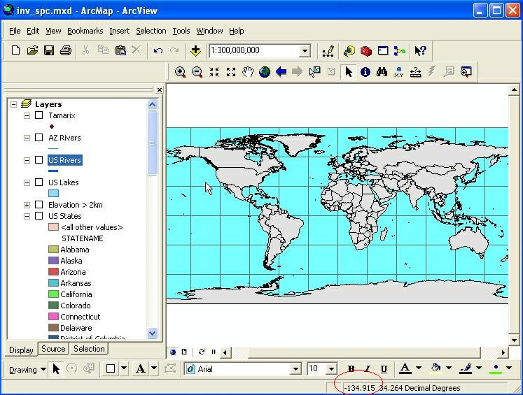 Intro To ArcGIS - Us states map arcmap
