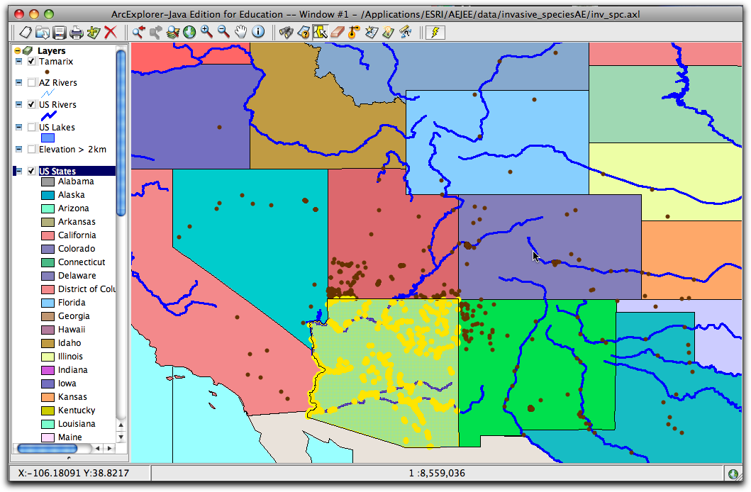 Us Map Rivers And Lakes Globalinterco - Mrs petlak southwest region label map of the us