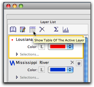 7 show table of active layer
