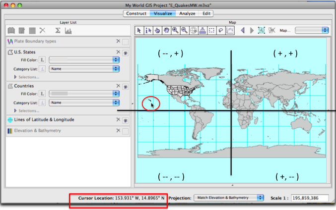Intro To Mapping Tabular Data In My World - Elevation from lat long coordinates