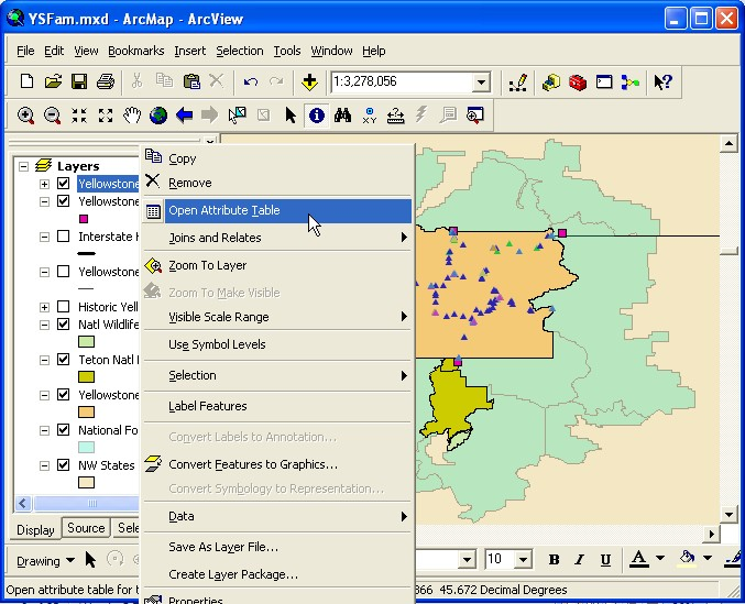 Using arcgis to manage forest fires for Html table sortable attribute