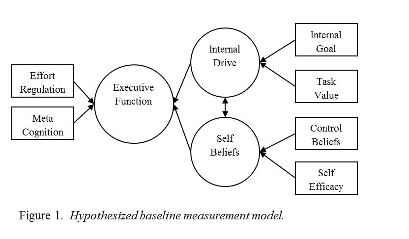 Hypothesized baseline measurement model
