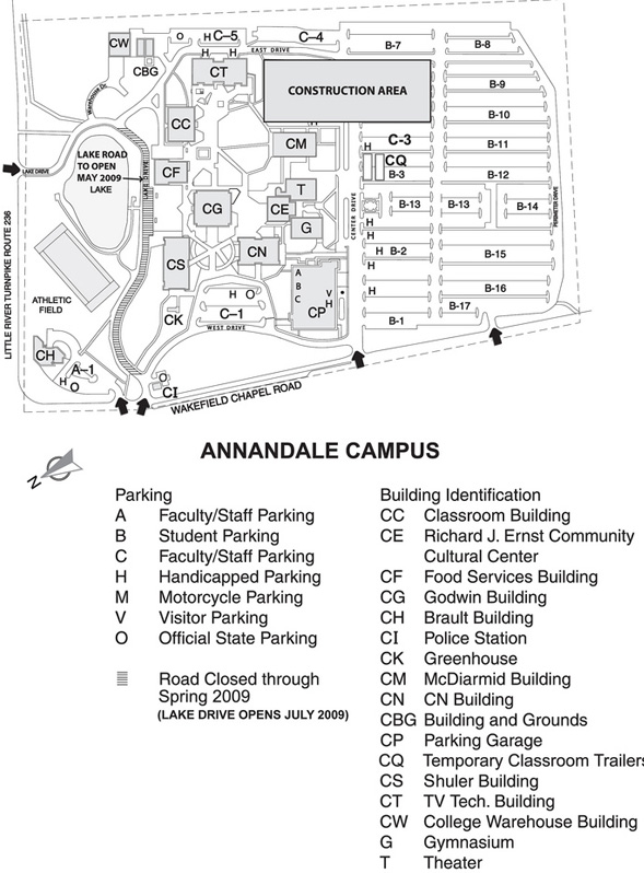 Nova Annandale Campus Map Annandale Campus Map | Time Zone Map