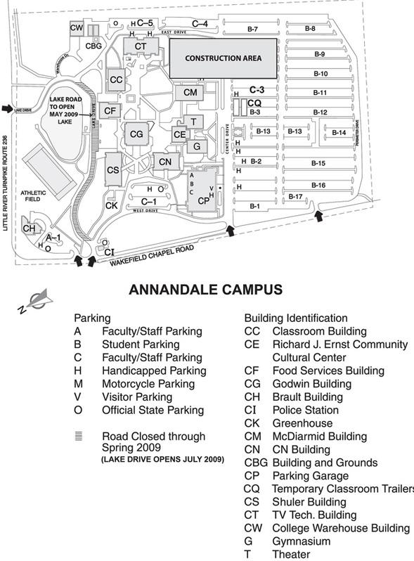 Nova Annandale Campus Map Logistics