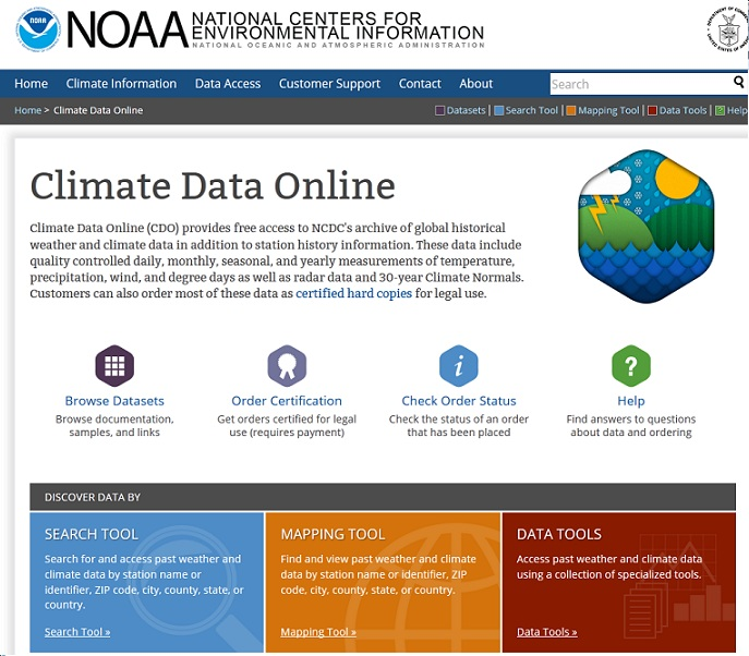 Downloading Climate Data from the National Climatic Data Center (NCDC)