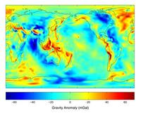 GRACE gravity map of Earth