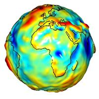 Global gravity map derived from GRACE data (Gravity Recovery and Climate Experiment)