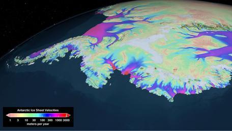 Velocities of ice sheets over west Antarctica