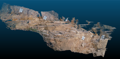 Structure from motion 3D model of an outcrop