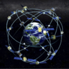 GPS satellites and Earth