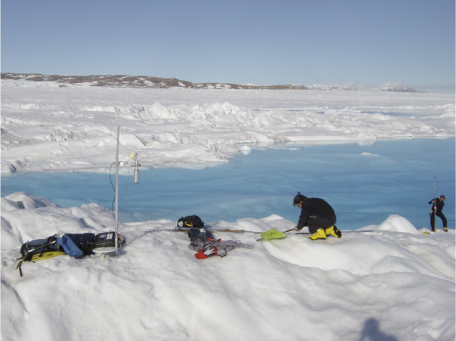 Deploying instruments in Greenland