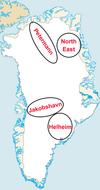 Greenland study areas