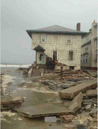 House in Brooklyn damaged by Super Storm Sandy