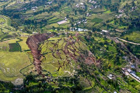 Landslide in Cusco, Peru