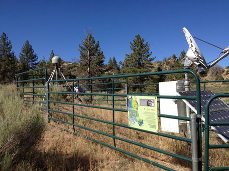 P550 GPS station in Frazier Park, CA