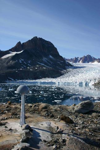 GNET GPS station on Pilgupik Island, SE Greenland.