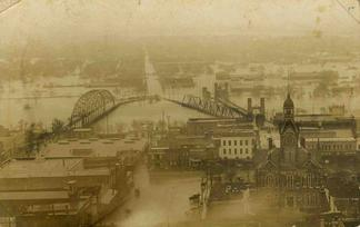 1910 Brazos River flood in Waco, Texas
