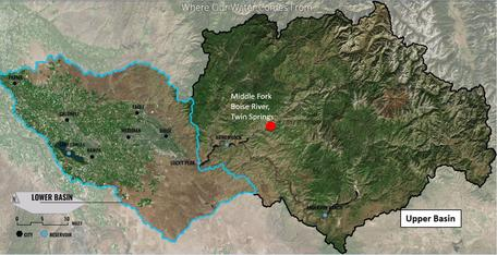 Boise River Basin in South Central Idaho