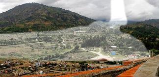 1970 Nevado Huascarán landslide area