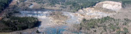 Surface Process Hazards module banner. Oso Landslide covering a neighborhood.