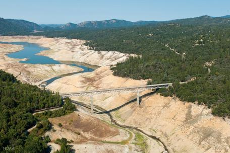 Lake Oroville during drought conditions
